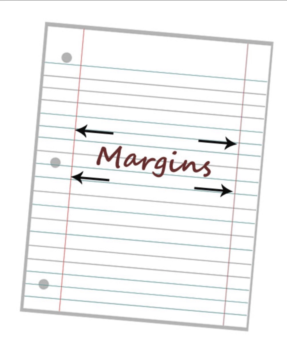 Image result for notebook paper with margins