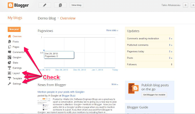 Blogger - Configure Blog