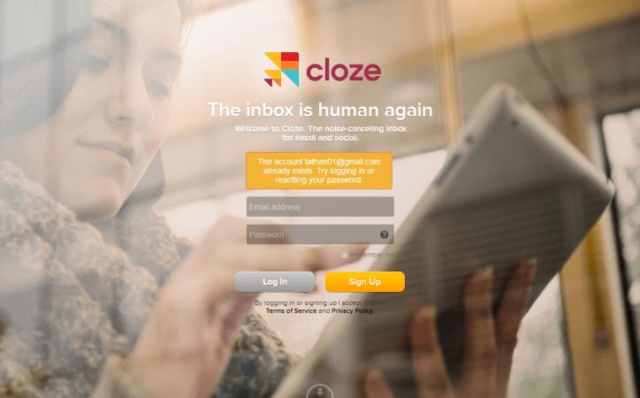 Cloze Main Screen