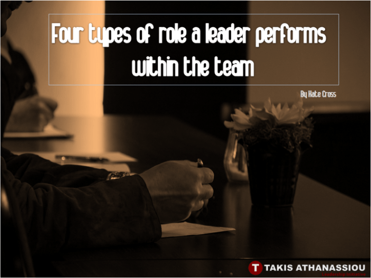 Four types of role a leader performs within the team
