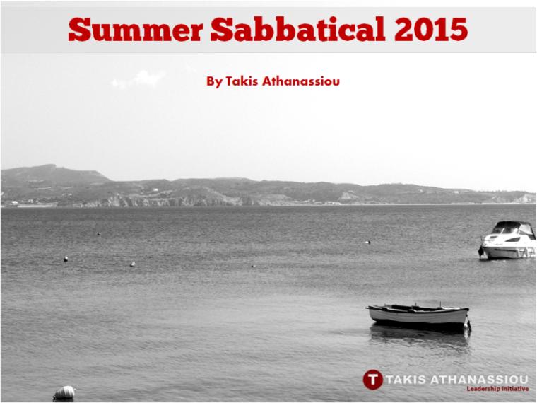Summer Sabbatical 2015