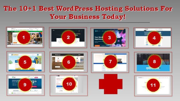 The 10+1 Best WordPress Hosting Solutions For Your Business Today!
