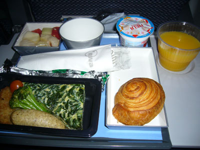 NWA flight meal