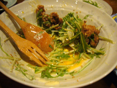 Salad with Fried Pork
