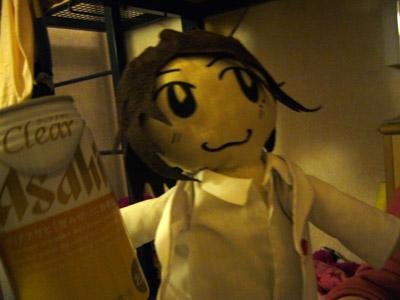 Takki doll with Asahi coffee