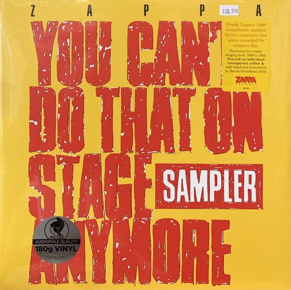 Frank Zappa - You Can't Do That On Stage Anymore (Sampler) - vinyl record