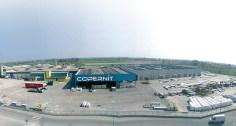 Panoramabilde av Copernit fabrikken i Italia