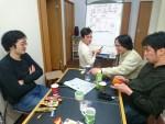 3月の現場会議~北川さんが書記で奮闘中~