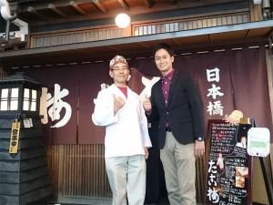 取材に来てくれたテレビ大阪の庄野アナウンサーと記念撮影です