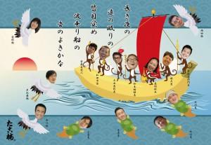 2016年の『七福神宝船図』です
