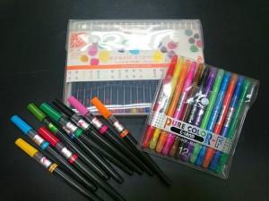 カラー筆ペン、サインペン