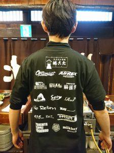 道頓堀 たこ梅 本店のリニューアルオープン10周年記念Tシャツ(背面)