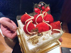 あまおうのイチゴケーキです