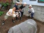 恵み循環農法畑作りワークショップでスタッフさんと姫路に!野菜つくるぞーーーー!?