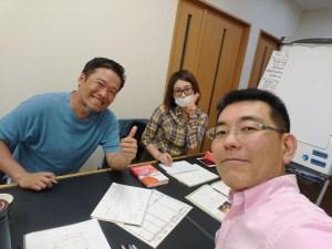 松野先生、阪田さんと研修の打合せ