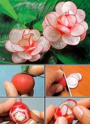 цветок из редиски