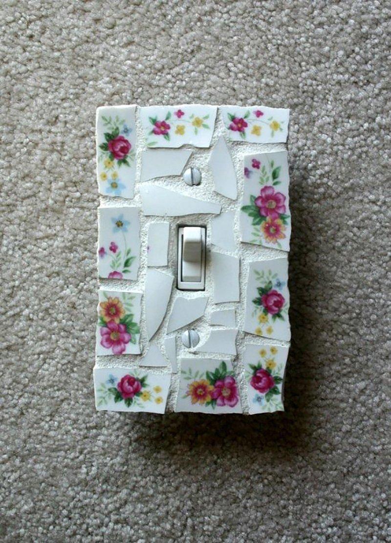 декор выключателей из керамической плитки