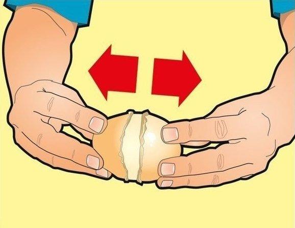 как очистить вареный картофель
