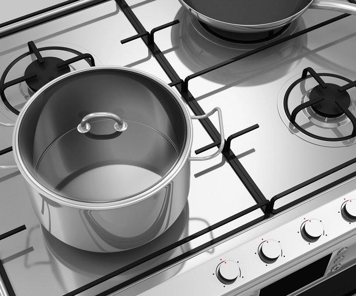 как очистить плиту содой