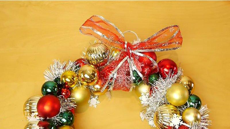рождественский венок как сделать