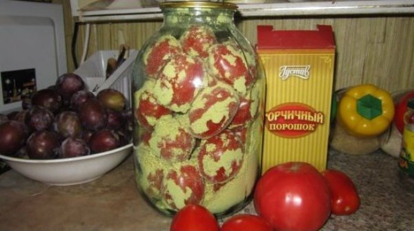 помидоры с горчицей на зиму