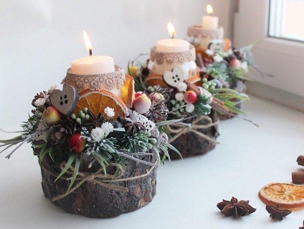 как украсить свечи из вощины