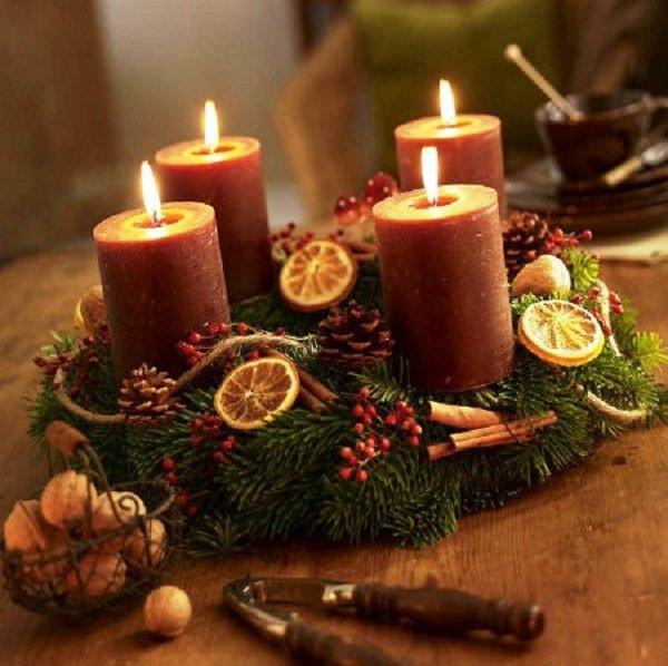 как украсить свечи на новый год