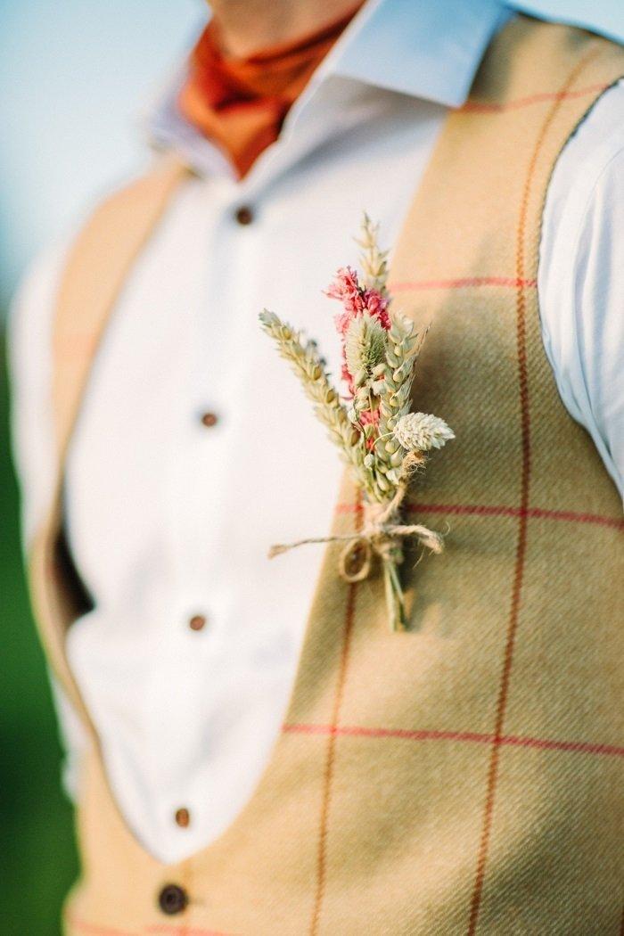 декор из колосков пшеницы