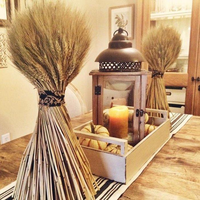 пшеничные колосья в доме