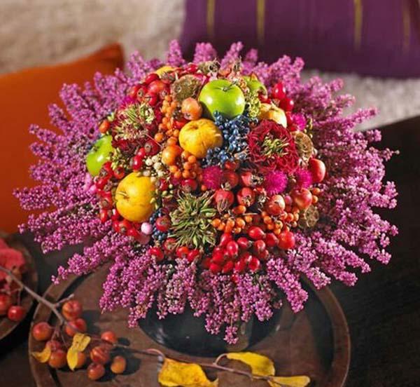 осенние композиции из цветов и овощей своими руками