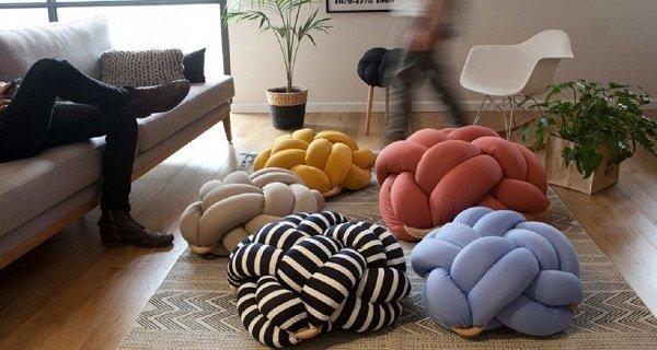 декоративные подушки из велюра