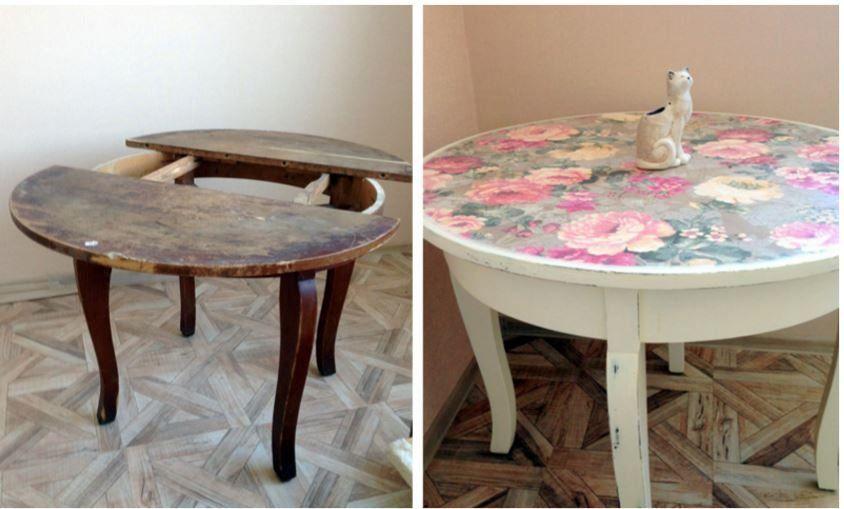 переделка мебели до и после