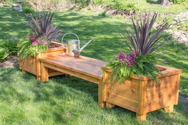 садовая мебель из состаренного дерева