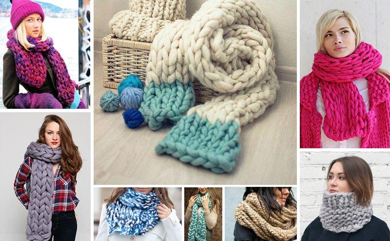 объемный шарф