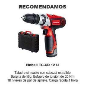 mejor taladro atornillador Einhell TC-CD 12 Li