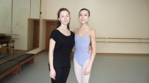 With my ballet teacher