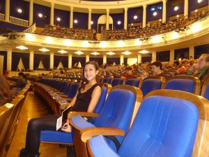 Inside the theatre