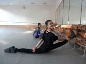 Ballet class warm-up
