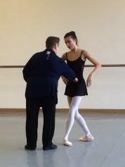 Rehearsing my ballet variation
