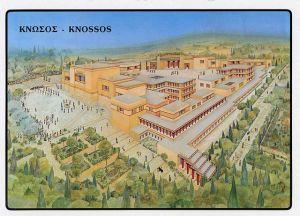 کنوسوس کا شاندار محل شہر کے وسط میں واقع تھا