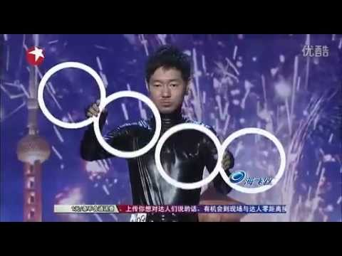 Visual art, illusion rings show on China's Got Talent Chinese talent show, by Jiuji.