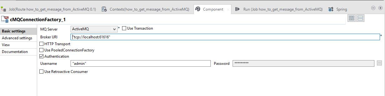 How to use a mediation route to read messages from ActiveMQ