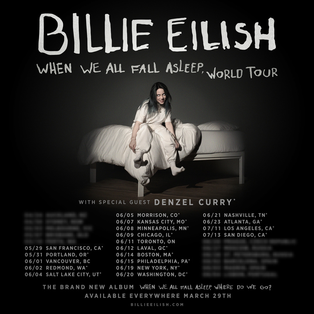 Billie Eilish announces North American tour ahead of her debut album, to be released in March