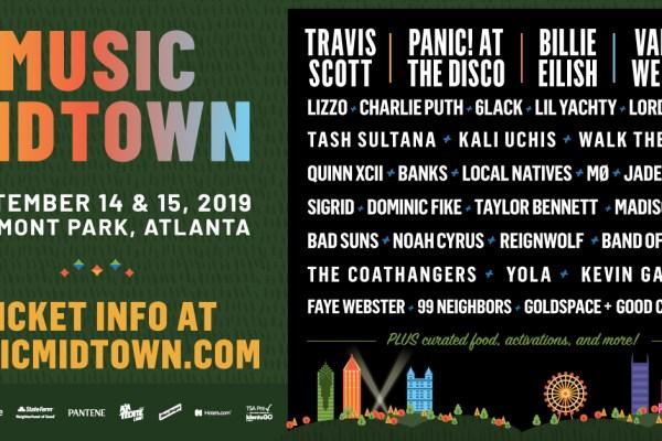 Atlanta's Music Midtown lineup announced