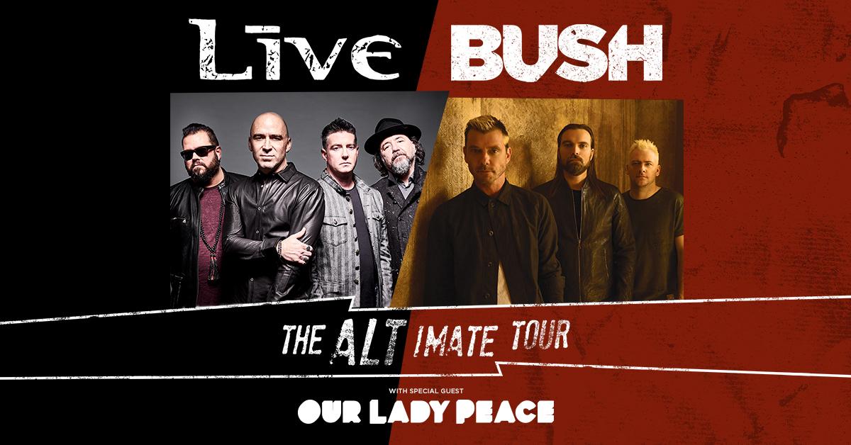 Bush and Live add fall tour dates