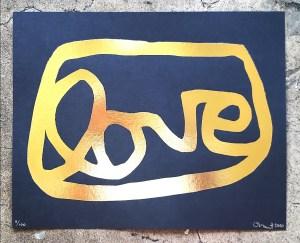 Love Gold Foil Print
