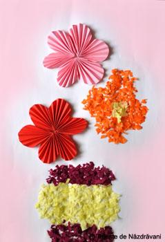 Flori de toamna, colaj