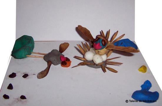 Păsări. Modelaj.