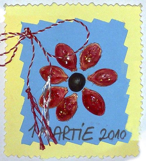 Mărțișoare din semințe