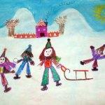 Pictură - peisaj de iarnă